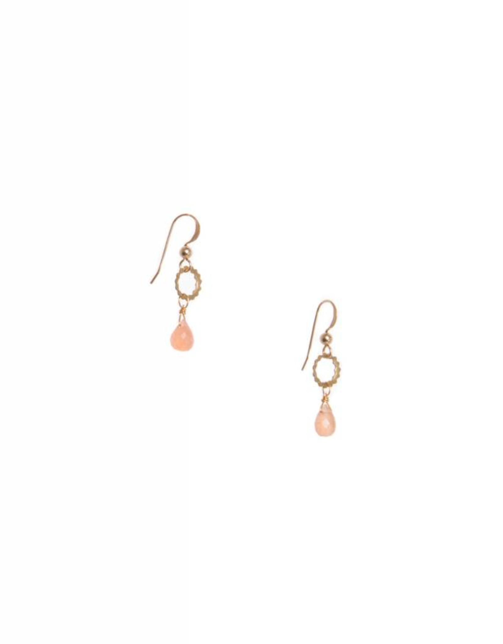 Hailey Gerrits Designs Eos Earrings - Peach Moonstone