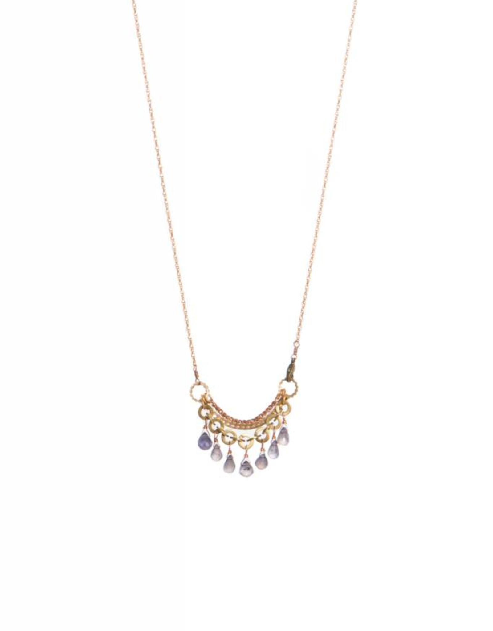 Hailey Gerrits Designs Eos Necklace - Iolite
