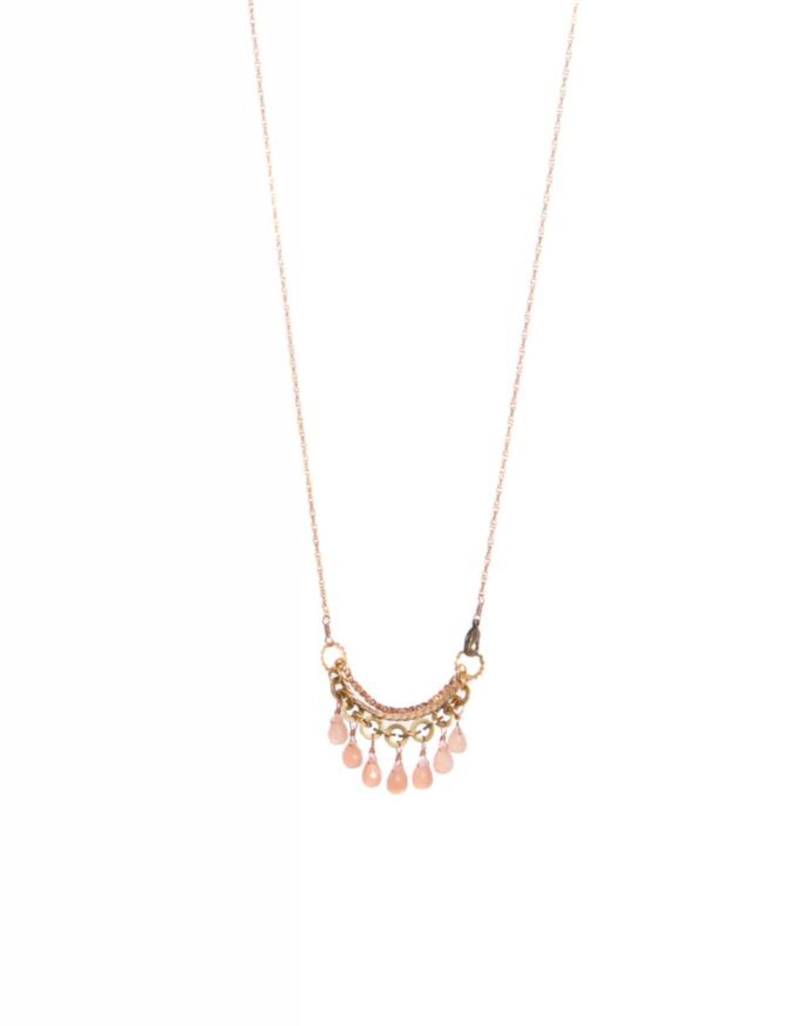 Hailey Gerrits Designs Eos Necklace - Peach Moonstone