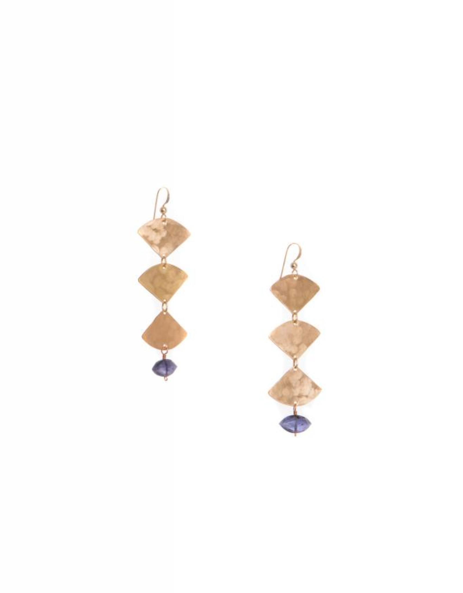 Hailey Gerrits Designs Mella Earrings - Iolite