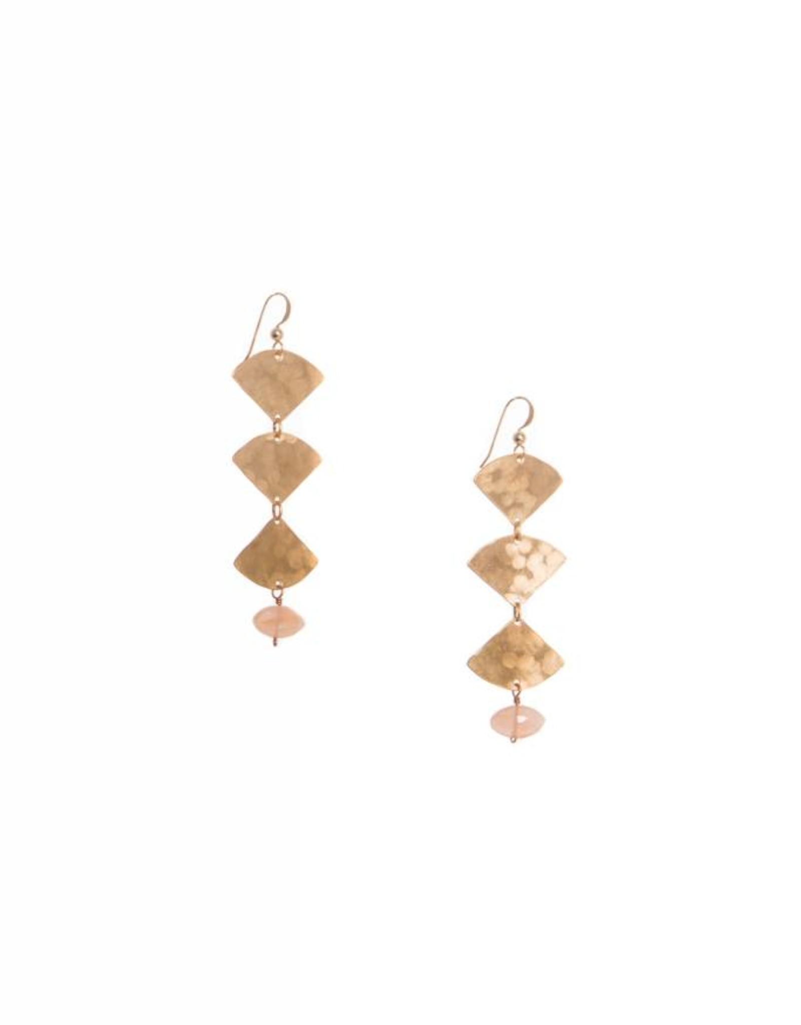 Hailey Gerrits Designs Mella Earrings - Peach Moonstone