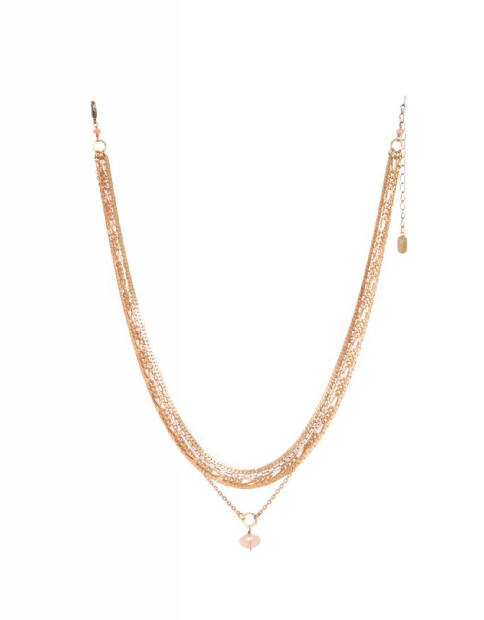 Hailey Gerrits Designs Gaia Necklace - Peach Moonstone