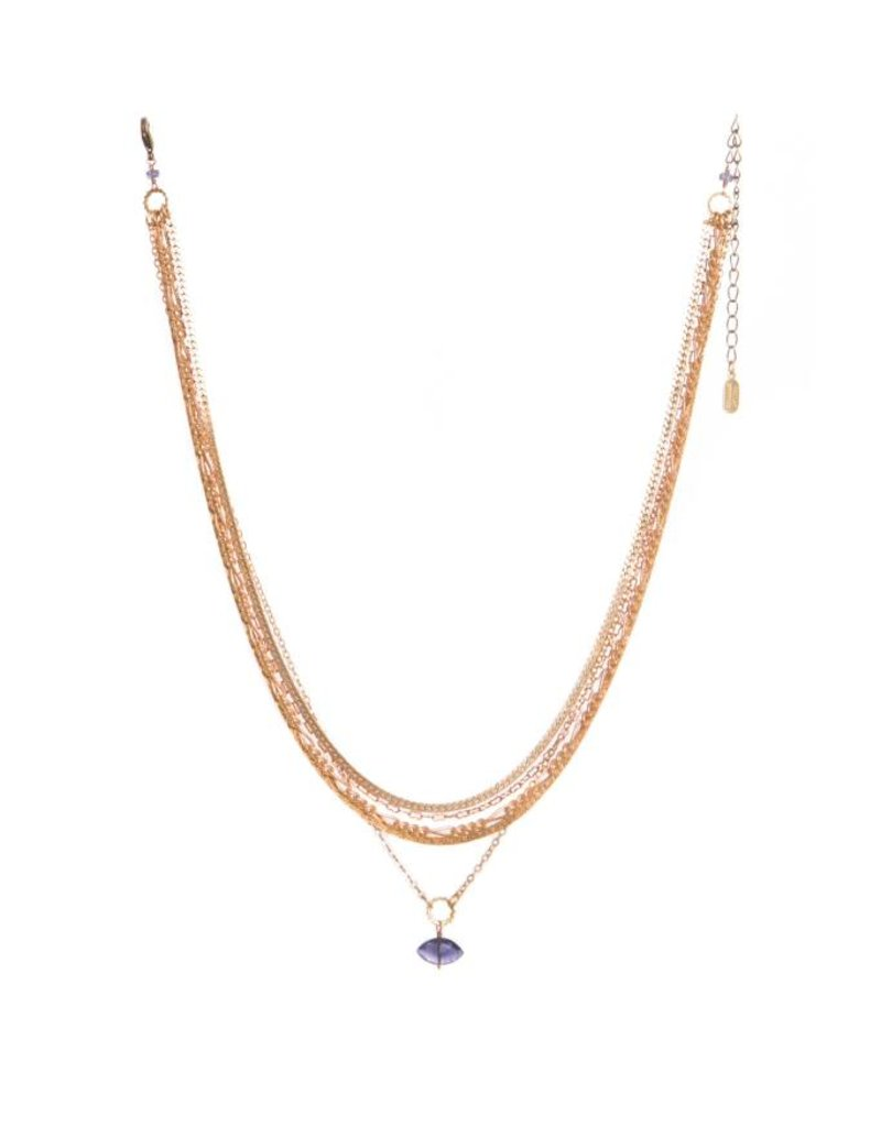 Hailey Gerrits Designs Gaia Necklace - Iolite