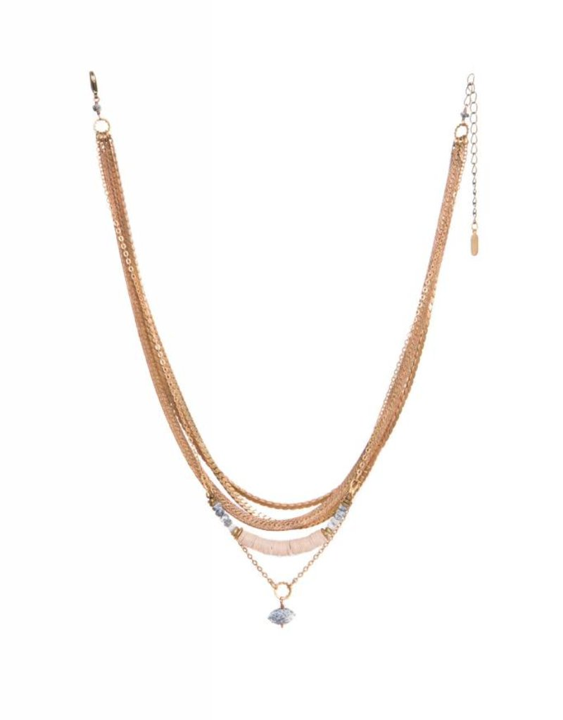Hailey Gerrits Designs Juno Necklace - Dendrite Opal
