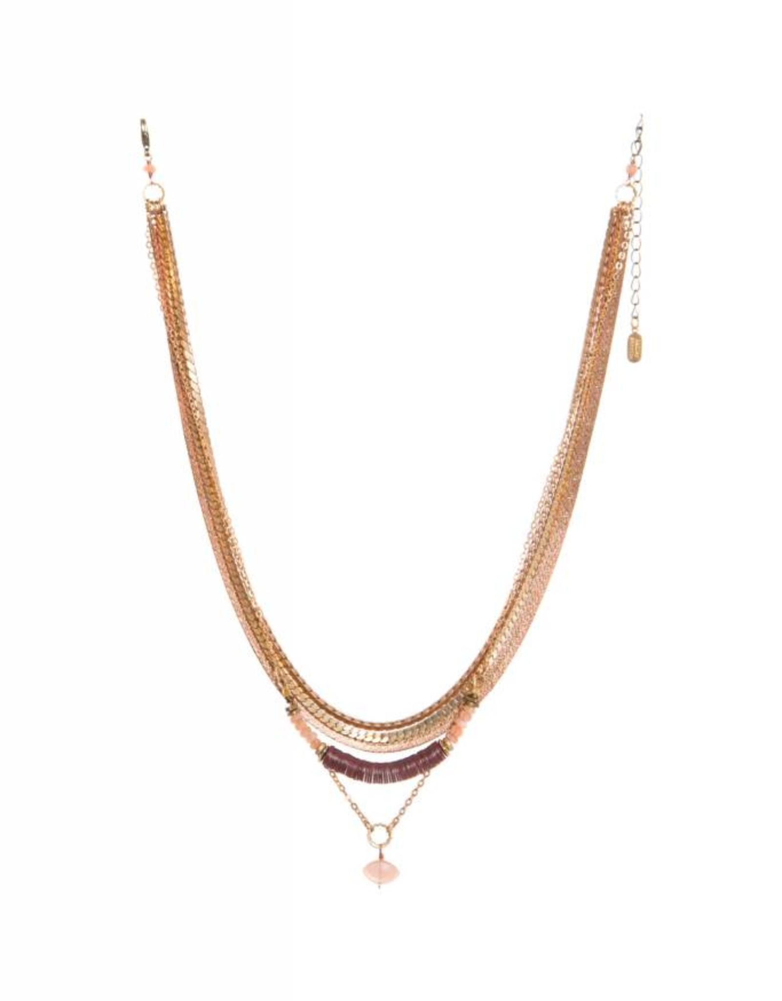 Hailey Gerrits Designs Juno Necklace - Peach Moonstone