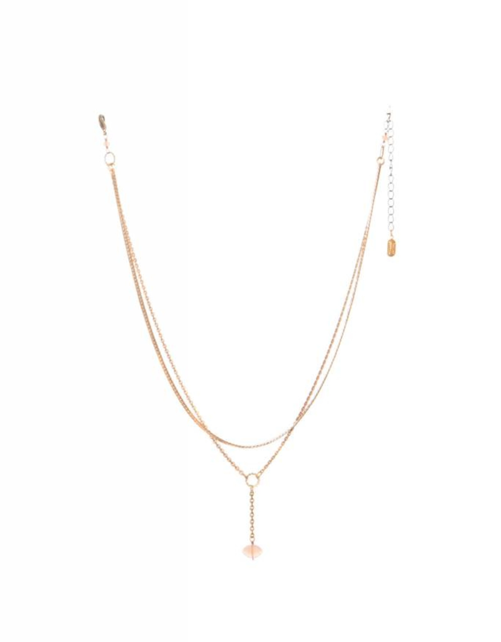 Hailey Gerrits Designs Meri Necklace - Peach Moonstone