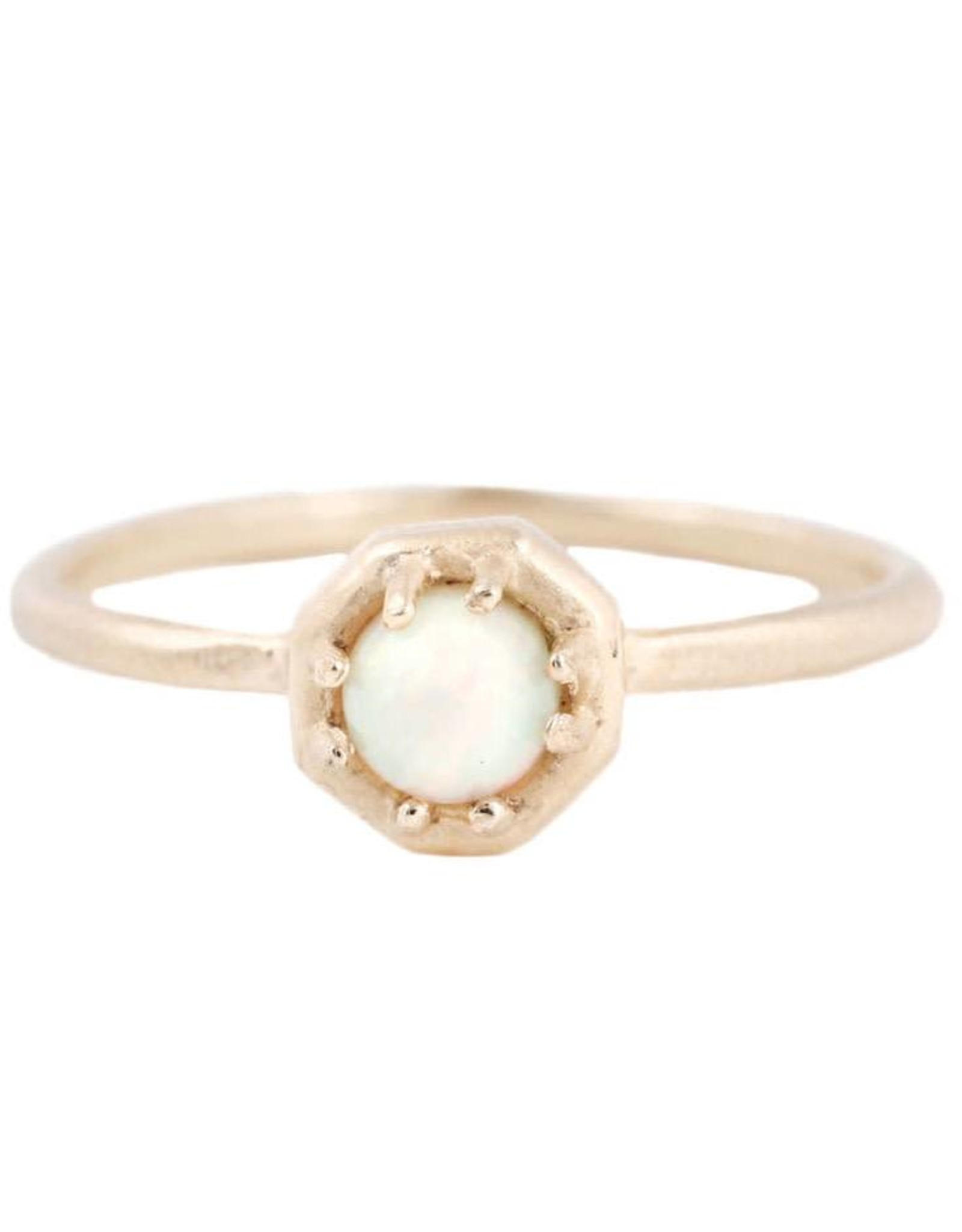 Lauren Wolf Jewelry Tiny Gold Octagon Ring - Opal
