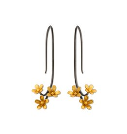 Himatsingka Plumeria 3 Cluster Inverse Hook Earrings