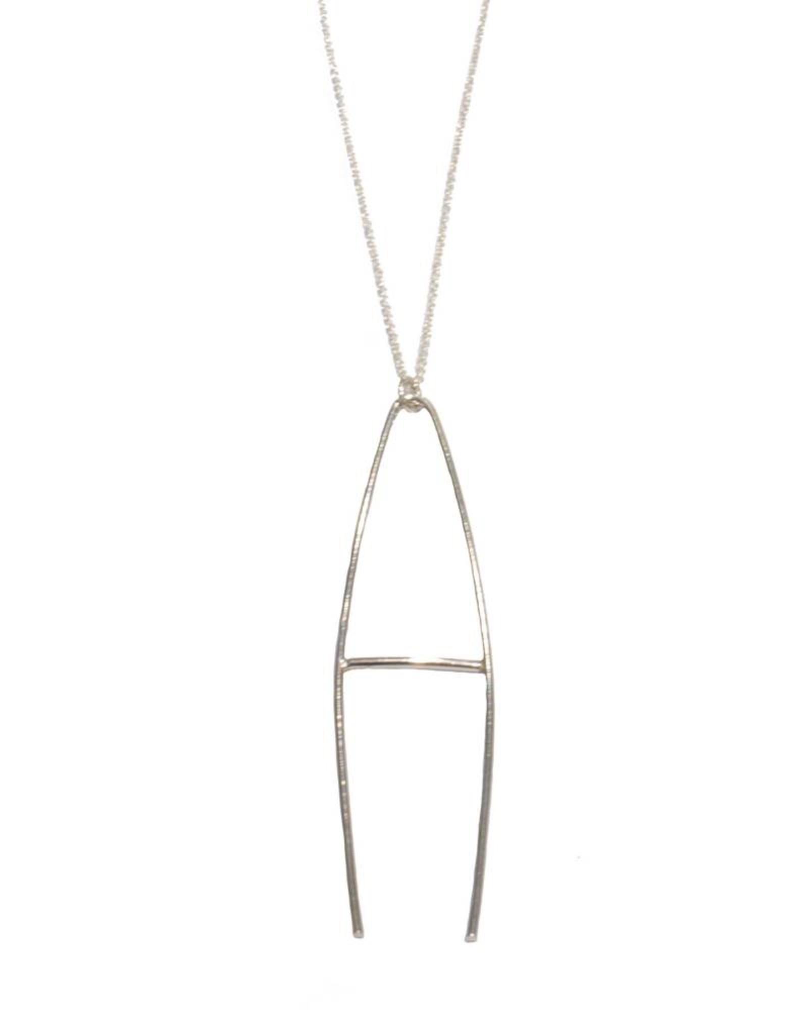 Gauge NYC Luna Letter Necklace - A