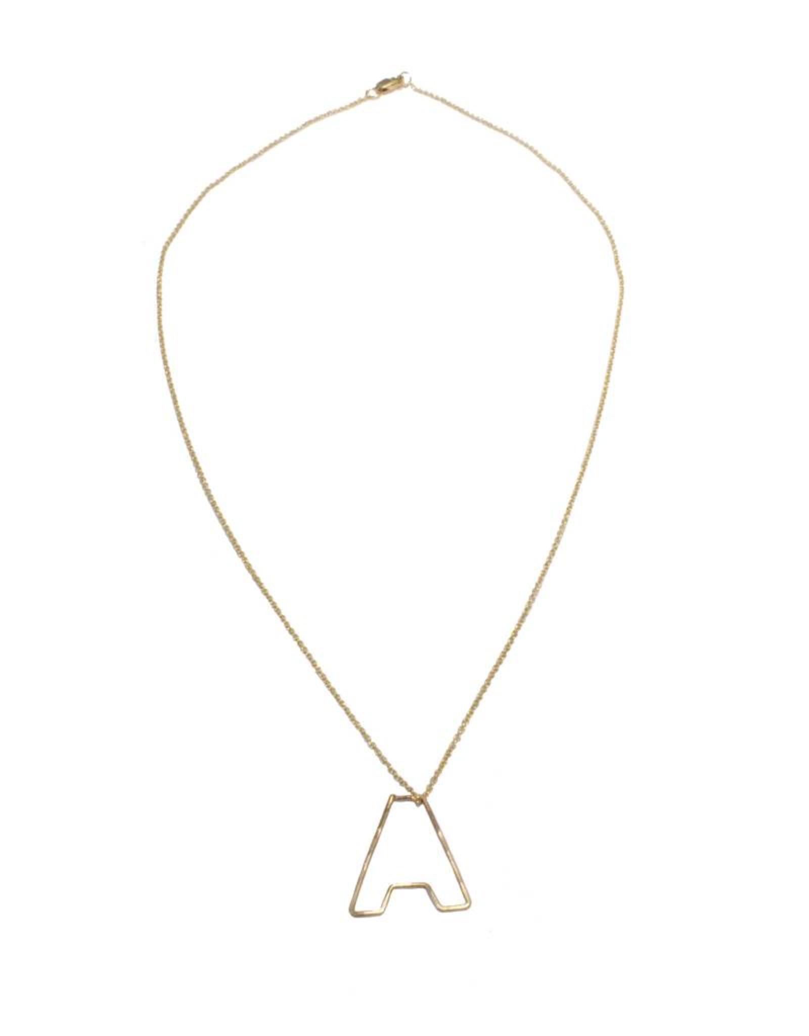 Gauge NYC Mini Bubble Letter Necklace - A