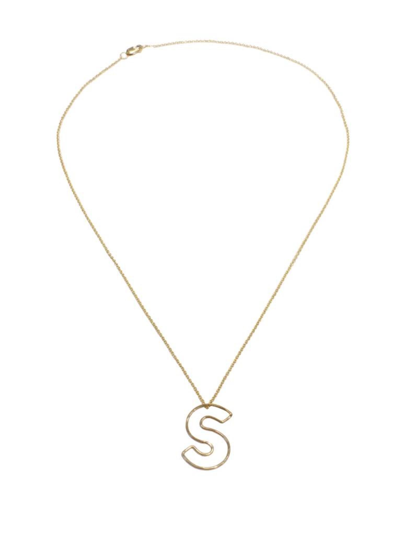 Gauge NYC Mini Bubble Letter Necklace - S