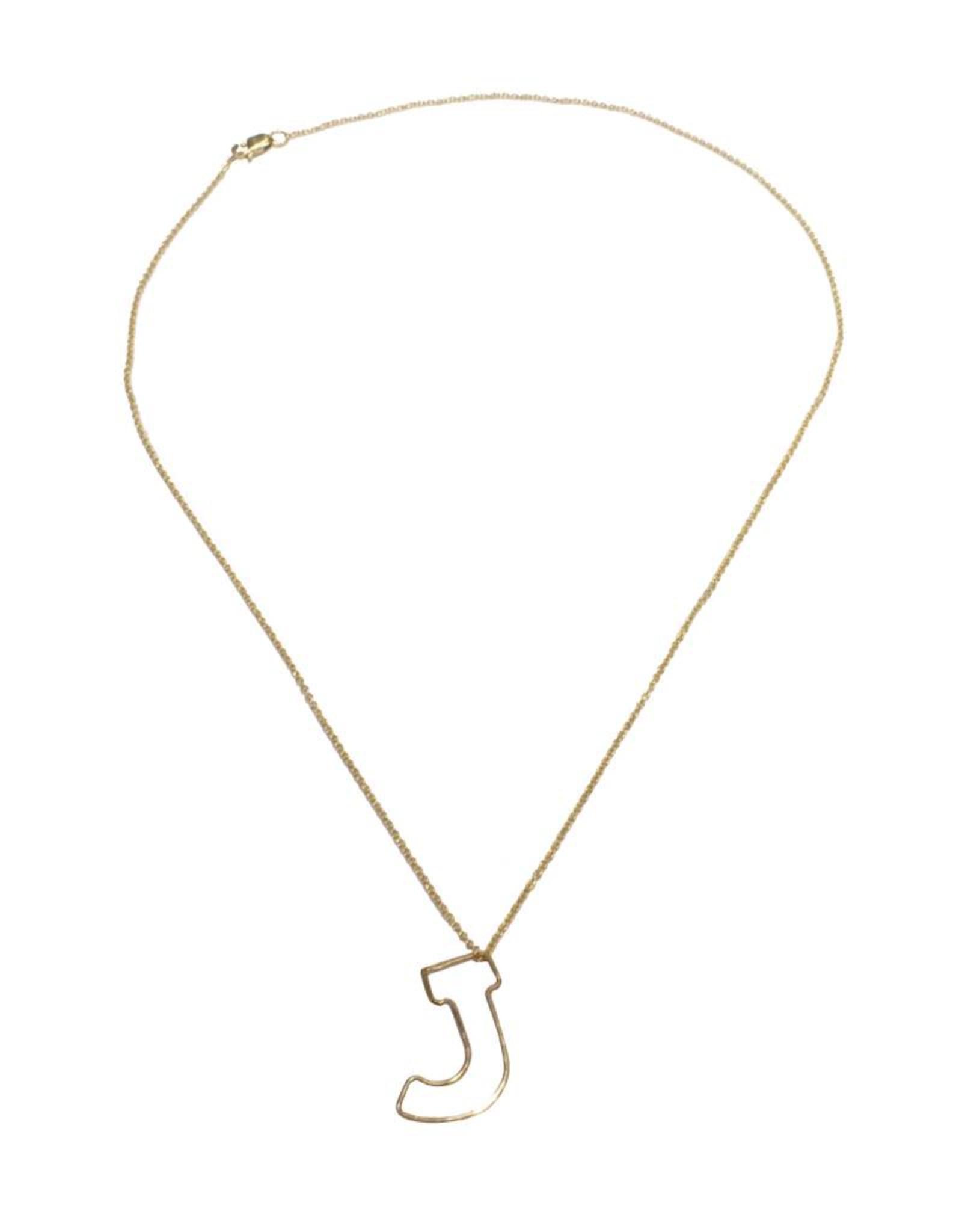 Gauge NYC Mini Bubble Letter Necklace - J