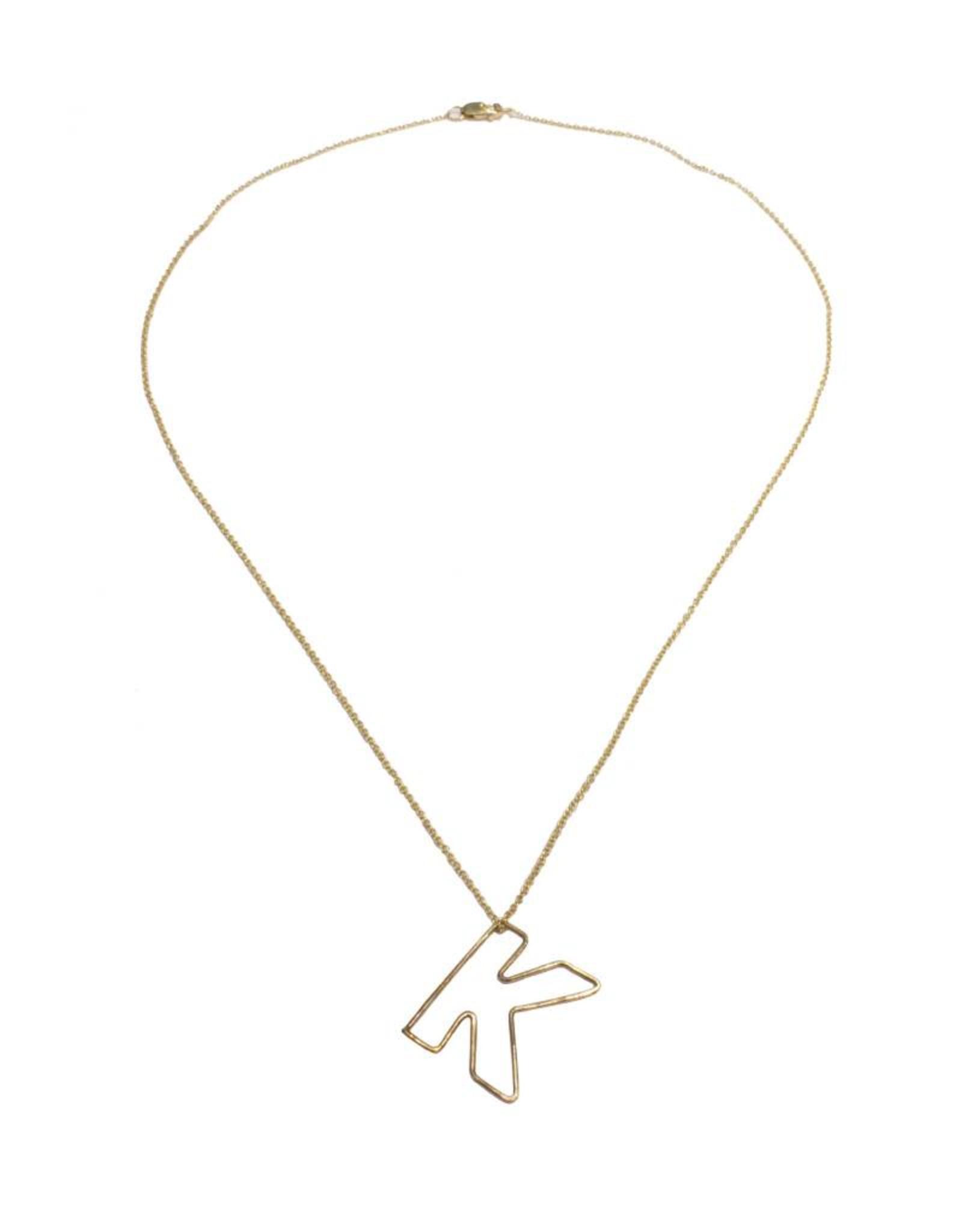 Gauge NYC Mini Bubble Letter Necklace - K