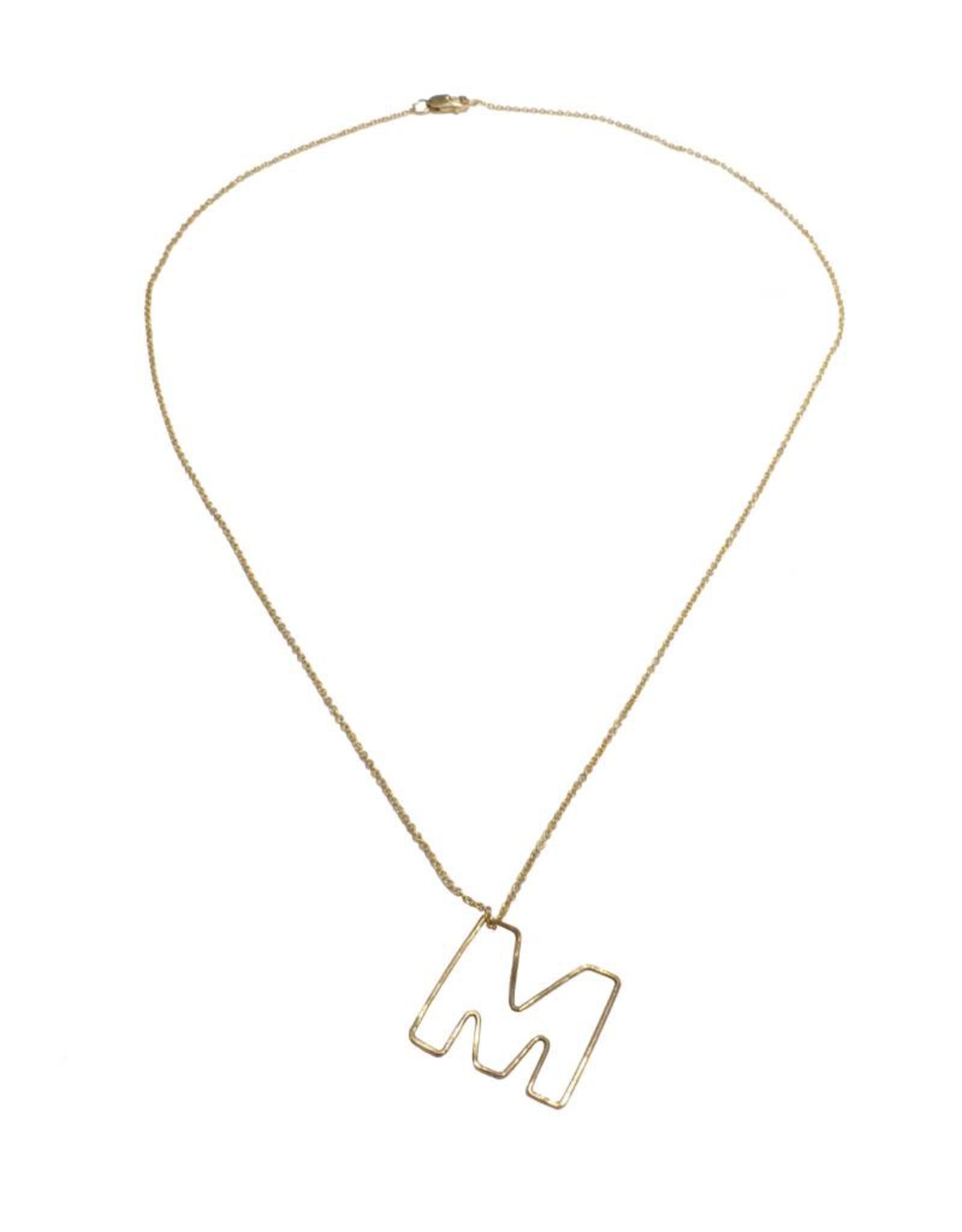 Gauge NYC Mini Bubble Letter Necklace - M