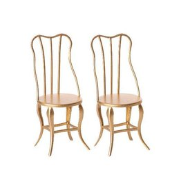 Maileg Pre-Order - Vintage Chairs Micro - Gold