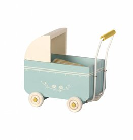 Maileg Mouse Pram - Powder Blue