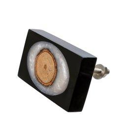 Indaba Black Sliced Knob - Rectangle