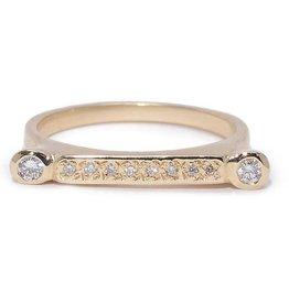 Scosha Bezel Bar Stone Stacking Ring