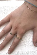 Scosha Bezel Bar Stone Stacking Ring