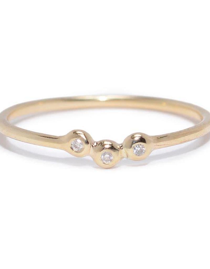 Scosha Trio Cluster Ring - Diamonds