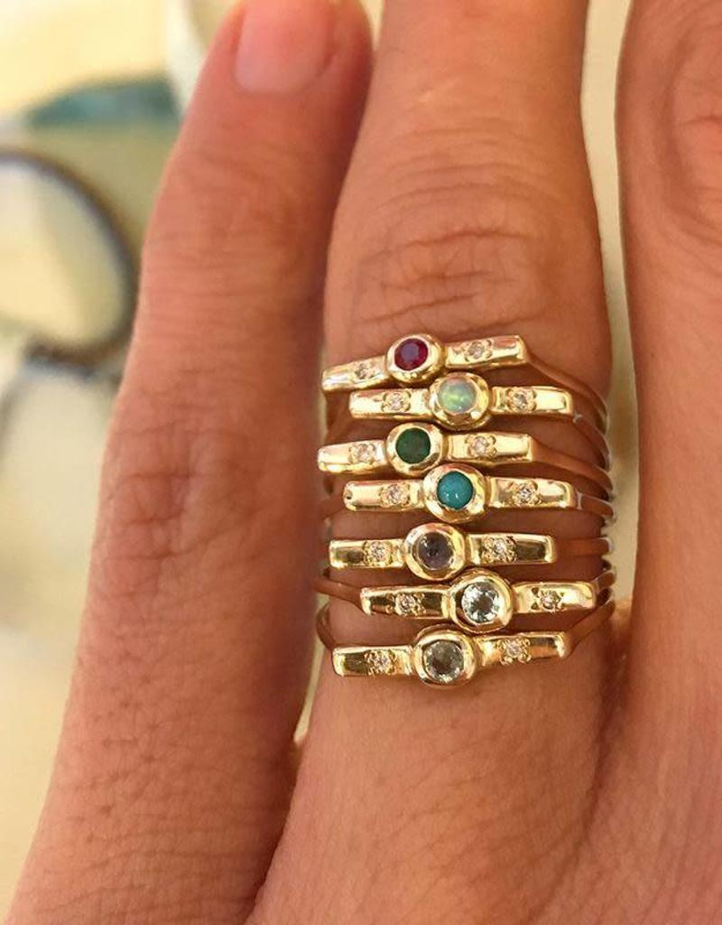 Scosha Wish Band - Ruby + Diamonds