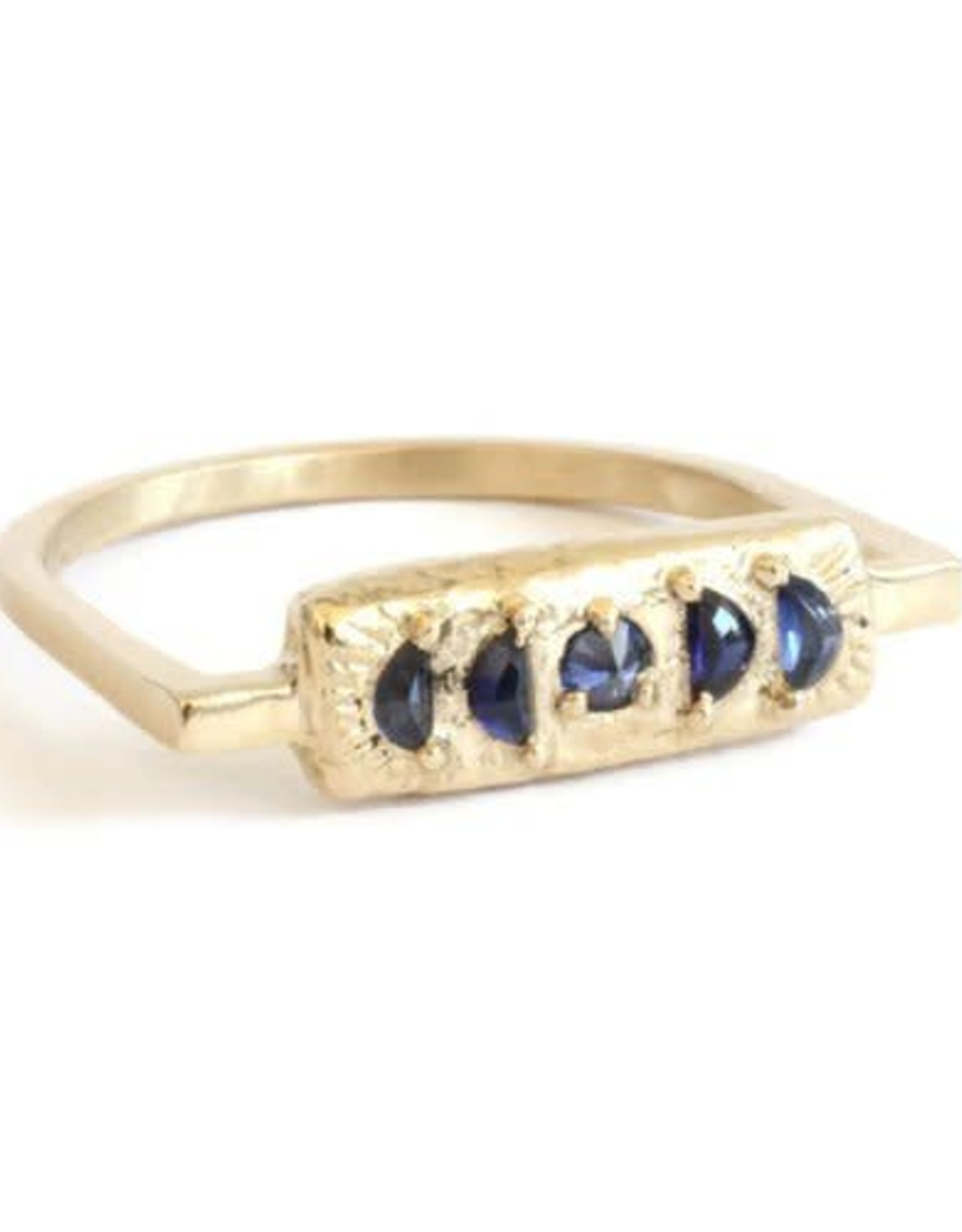 Lio & Linn Moonphase Ring - Blue Sapphire