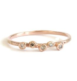 Lio & Linn Five Champagne Diamond Ring