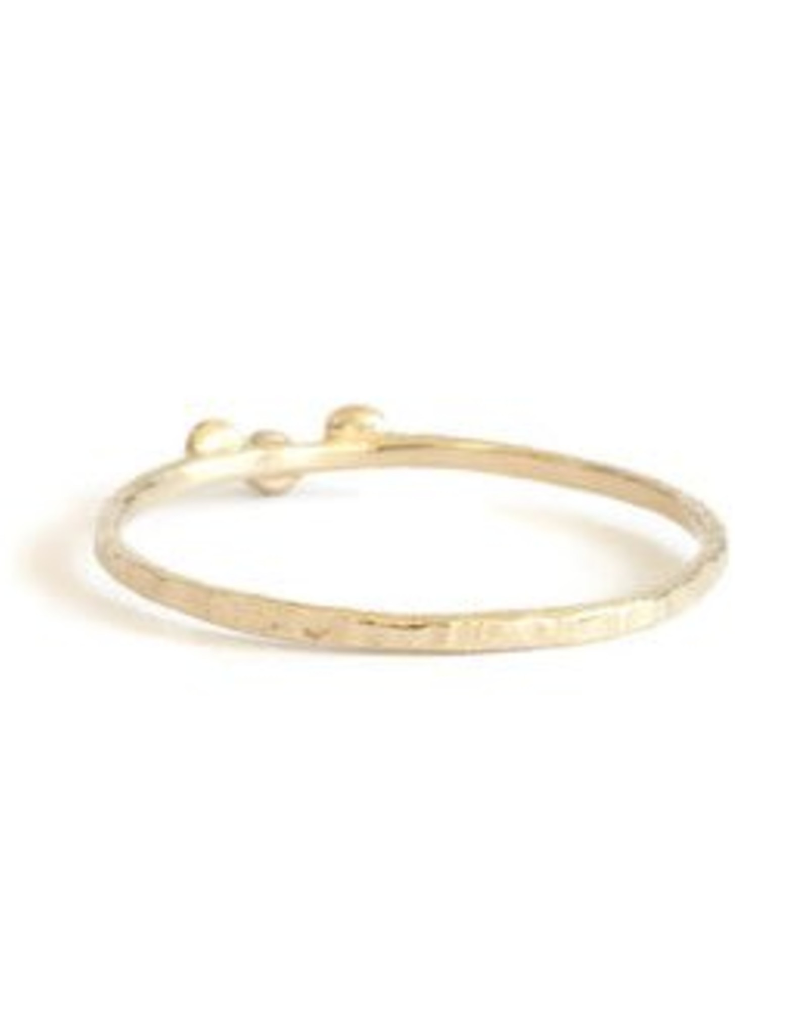 Lio & Linn Three Diamond Hammered Ring