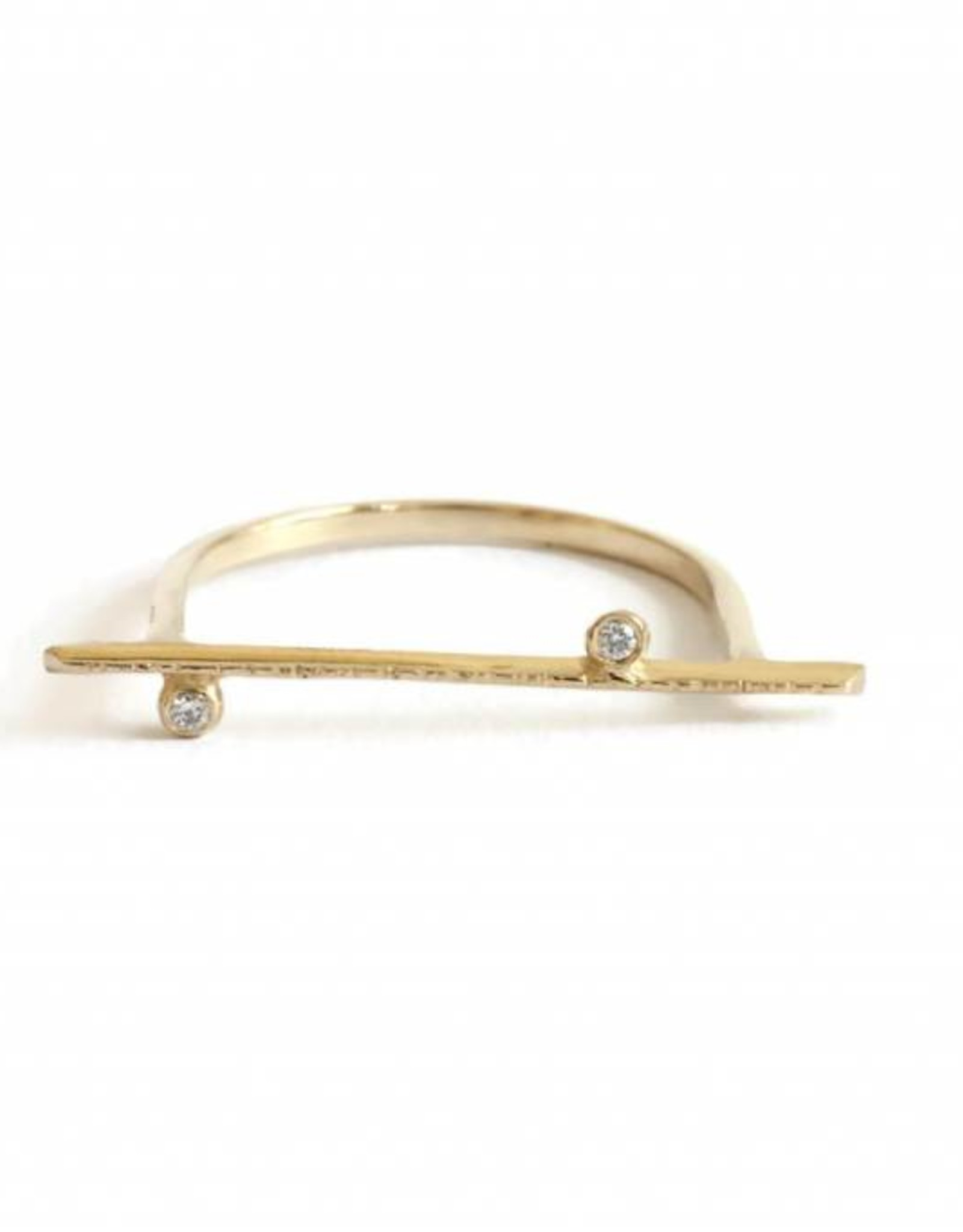 Lio & Linn Two Diamond Bar Ring