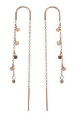 Scosha Gold Fairy Bead Thread-Through Earring