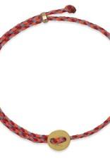 Scosha Signature Brass Slider Bracelet - Neon Pink + Scarlet + Sky