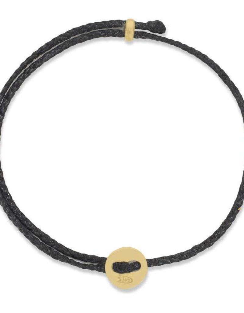 Scosha Signature Brass Slider Bracelet - Black