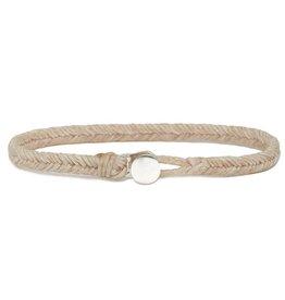 Scosha Fishtail Button Silver Bracelet - Natural