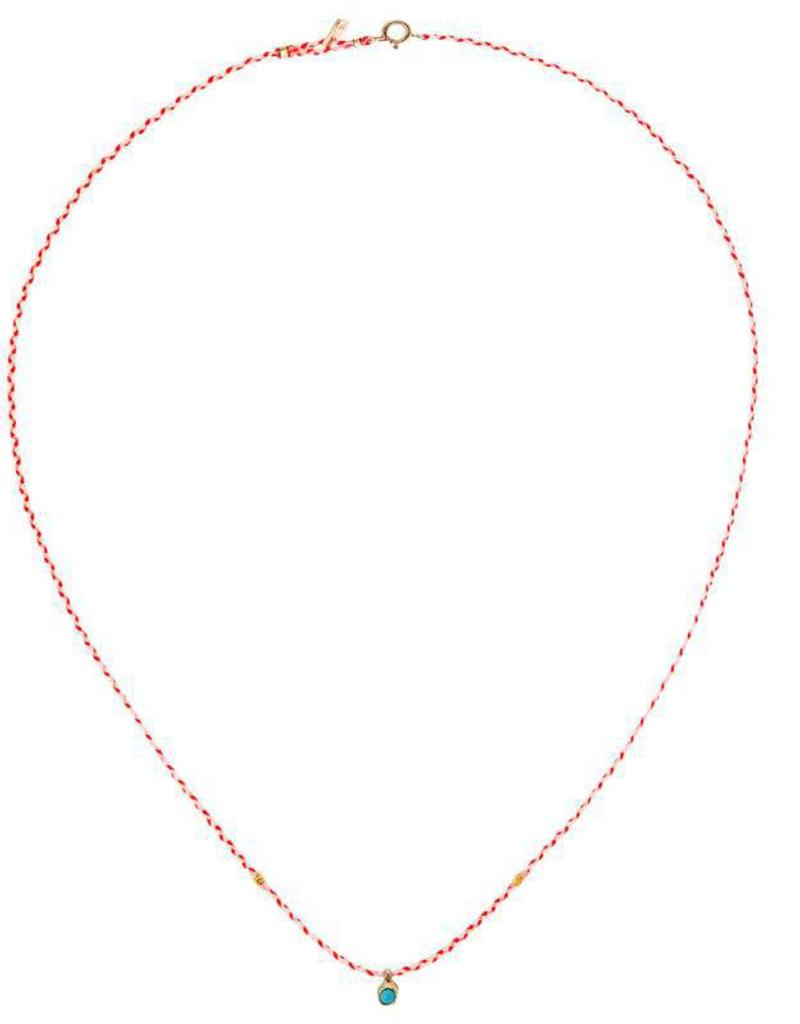 Scosha Carnival Turquoise Necklace - White + Neon Pink