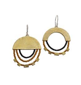 Satomi Studio Assymetrical Half Earrings - Desert