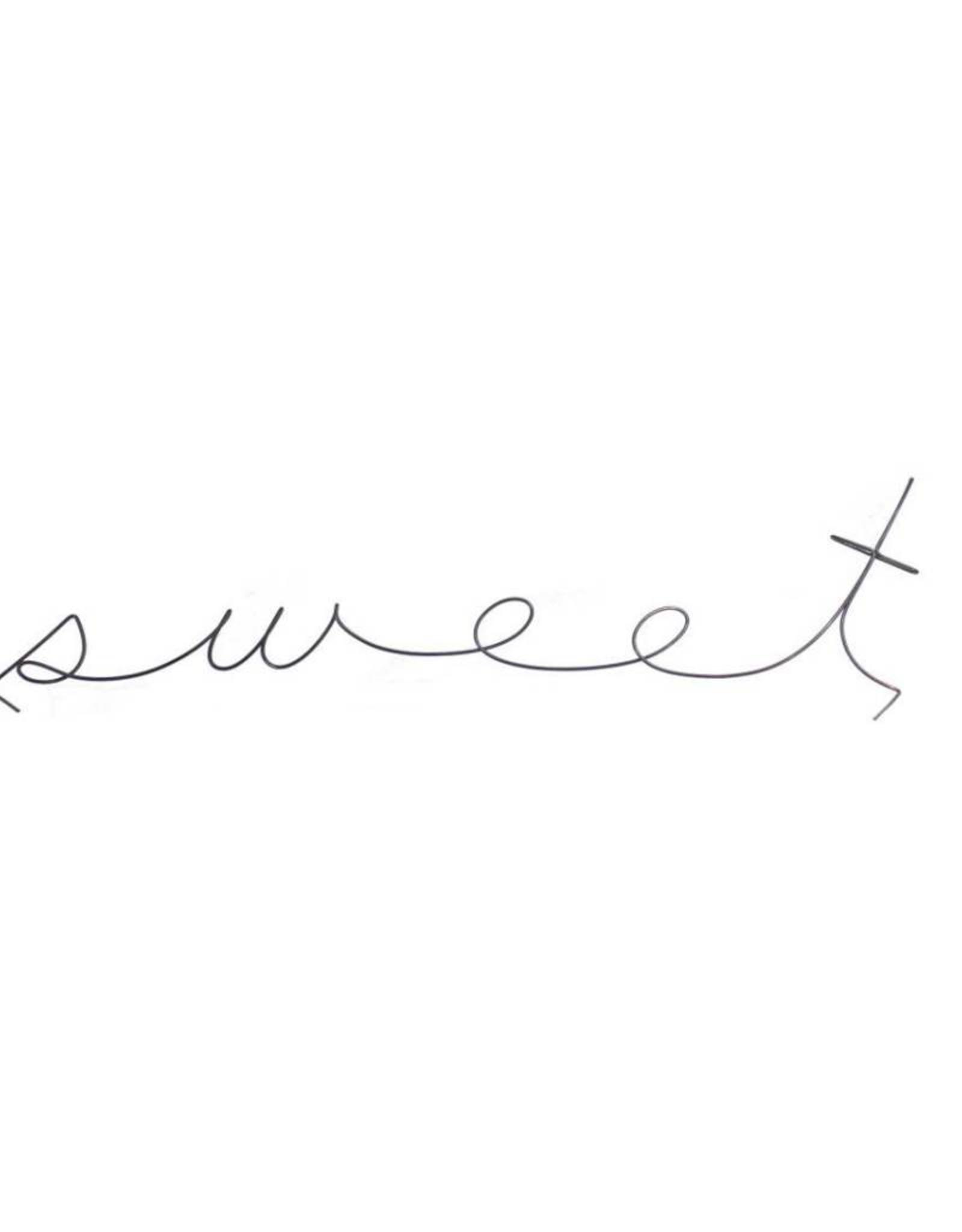 Gauge NYC 'sweet' wire word poetic
