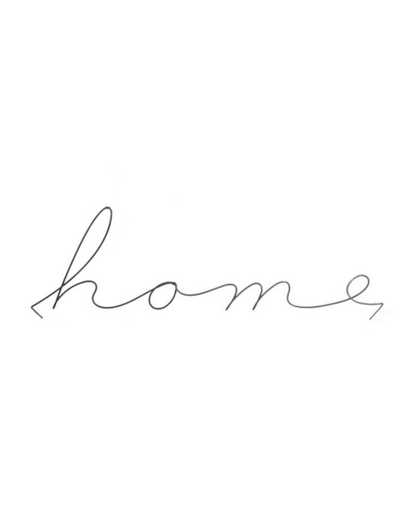 Gauge NYC 'home' wire word poetic