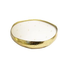 BIDK Home Hammered Tray Candle - Gold - Small