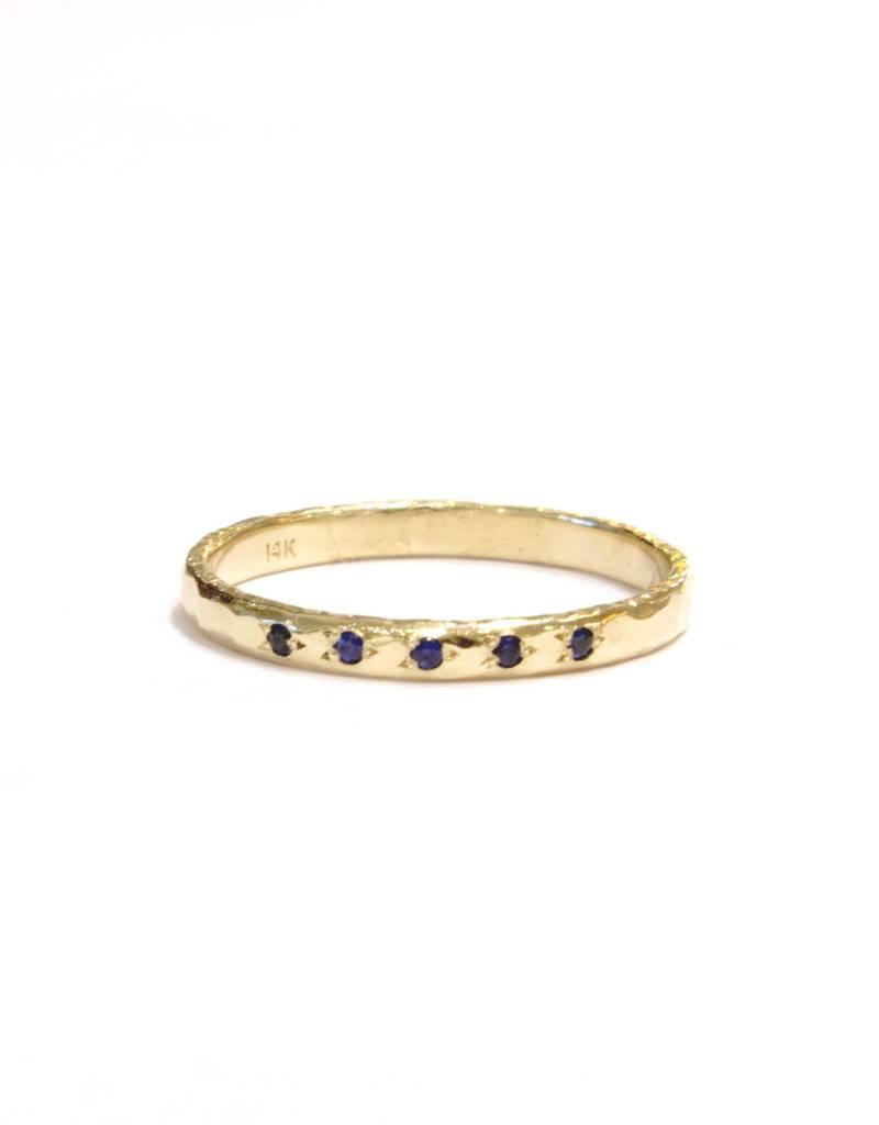 Lio & Linn Five Blue Sapphire Ring