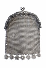Antique Silver Fine Chainmail Pouch - Small (late 1800s)