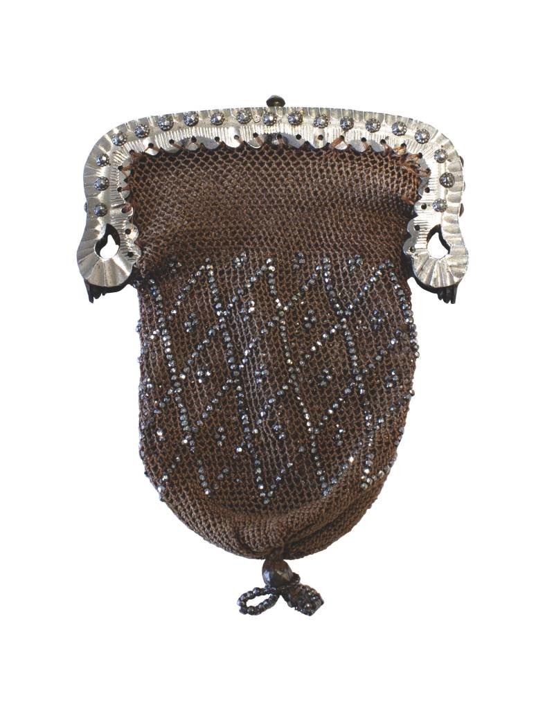 Antique Woven Silver Pouch - Small (~1850)