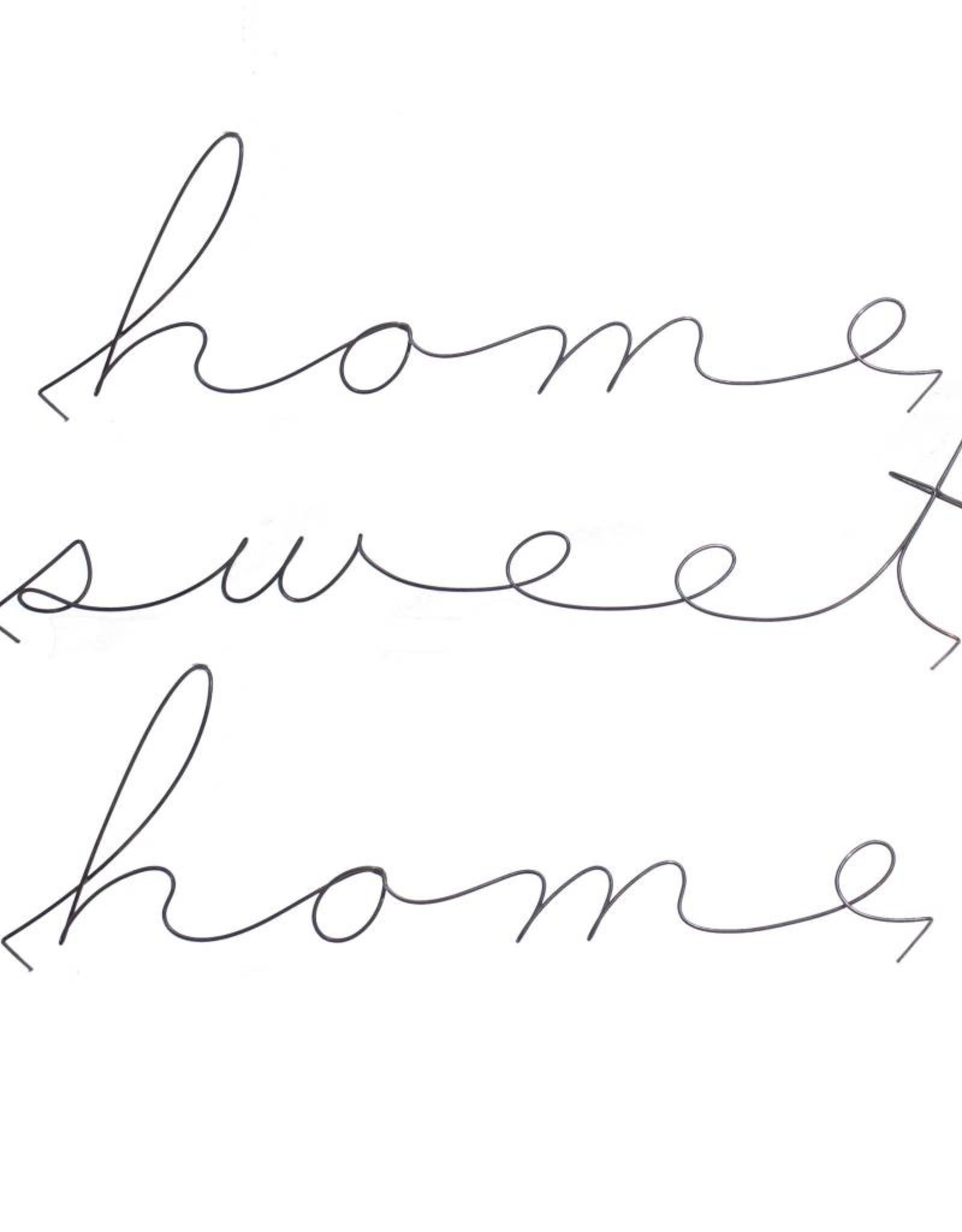 Gauge NYC 'home sweet home' Wire Word Poetic