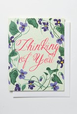 Banquet Atelier & Workshop Thinking of You Violets - Note Card