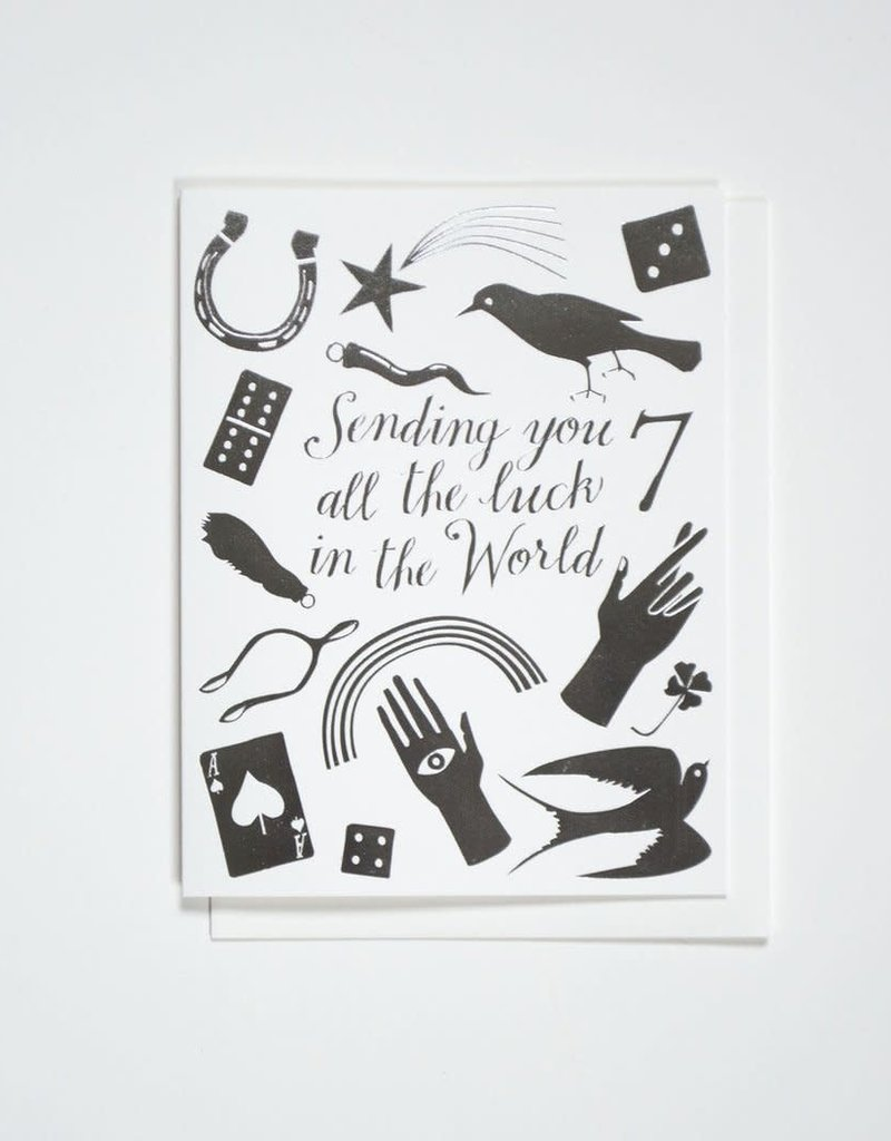 Banquet Atelier & Workshop Silver Foil Lucky Charms - Note Card