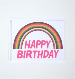 Banquet Atelier & Workshop Happy Birthday Rainbow (Neon) - Note Card