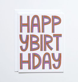 Banquet Atelier & Workshop Letters of the Rainbow Birthday - Note Card