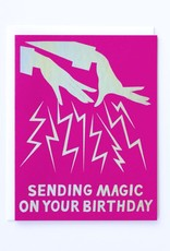 Banquet Atelier & Workshop Hologram Foil Magic Hands Birthday - Note Card