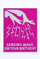 Banquet Atelier & Workshop Hologram Foil Magic Hands Birthday Note Card