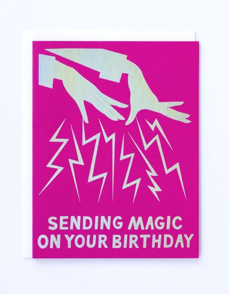 Banquet Atelier & Workshop Hologram Foil Magic Hands Birthday - Note Card