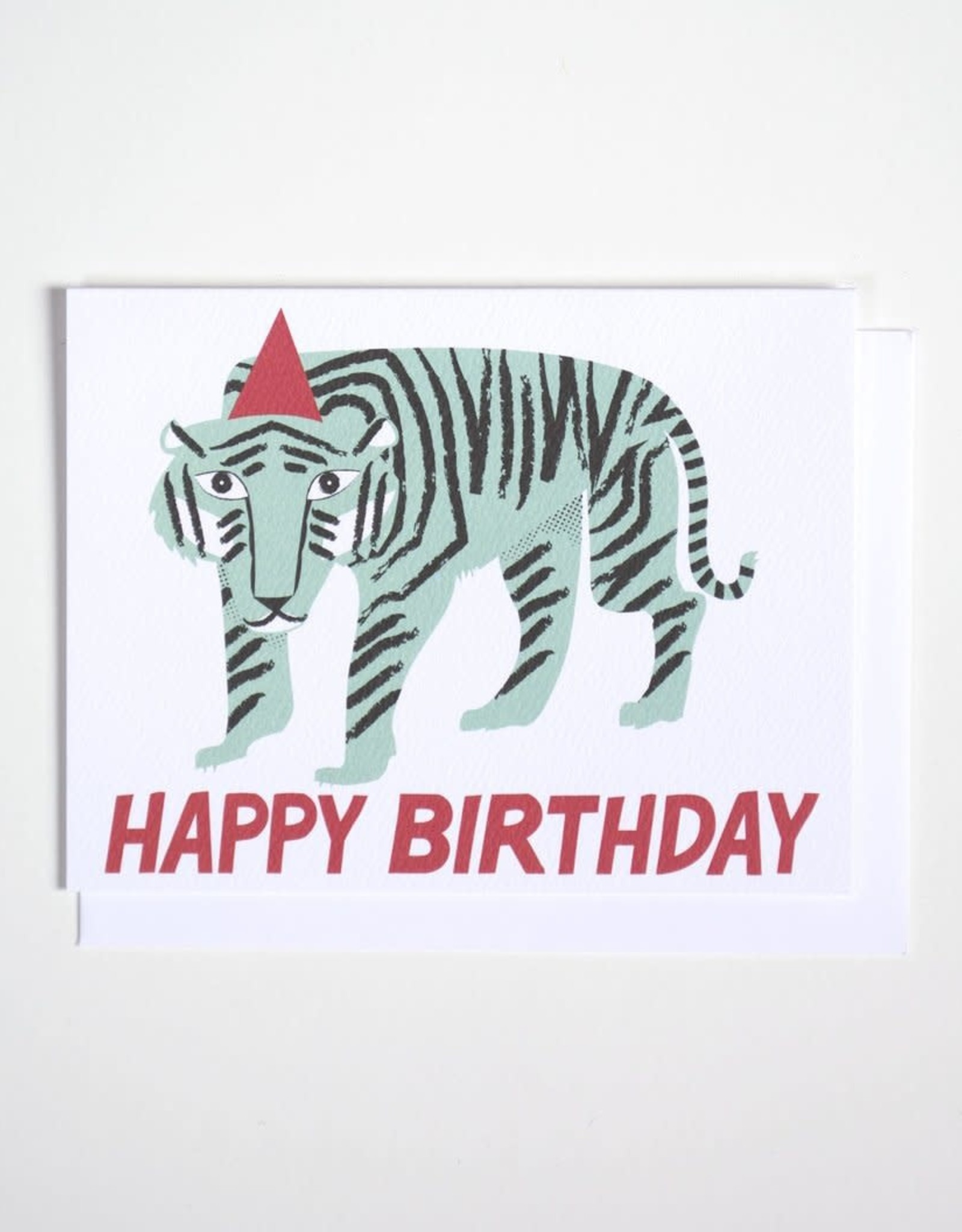 Banquet Atelier & Workshop Party Tiger Happy Birthday Note Card
